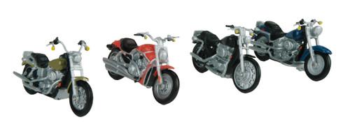 MTH RailKing O 30-11084 4-Pack Motorcycle Set #1