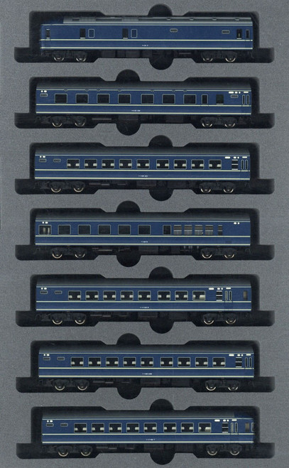 Kato N 101591 20 Series Sleeper Basic 7-Car Set, Blue Train