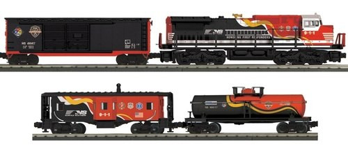 MTH RailKing O 30-4239-1 Dash-8 Diesel R-T-R Freight Train Set, Norfolk Southern (First Responders) (Proto Sound 3)