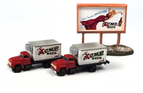 Classic Metal Works N 60003 1954 Ford Beer Truck with Country Billboard, Acme Beer (2)