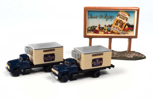 Classic Metal Works N 60004 1954 Ford Beer Truck with Country Billboard, Olympia Beer (2)