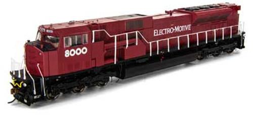 Athearn Genesis HO G27351 SD80MAC, Electro-Motive (EMD) #8000
