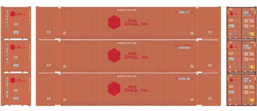 Athearn HO 17924 53' Jindo Containers, CSX #2 (3)