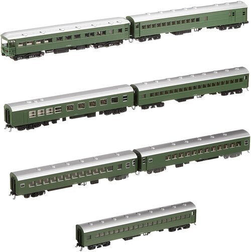 Kato N 10428 Blue General 7-Car Basic Set, Tsubame