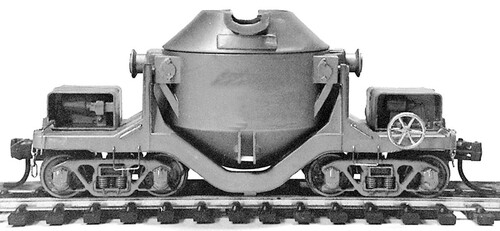 State Tool and Die HO 720 Pollack 75-Ton Hot Metal Car Kit, Undecorated