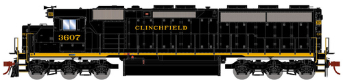 Athearn Genesis HO G86215 SD45-2, Clinchfield Railroad #3610