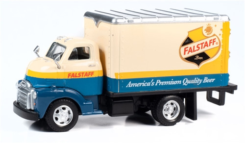 Classic Metal Works O TC301 TraxSide Collection 1948 Box Truck, Falstaff Beer