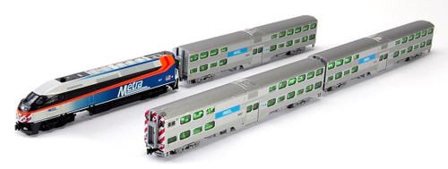 Kato N 1068701 MP36PH Chicago Metra Gallery Bi-Level Commuter 4-Unit Train Set