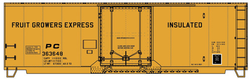 Accurail HO 3136 40' Insulated Steel Box Car Kit, Fruit Growers Express (PC) #363648