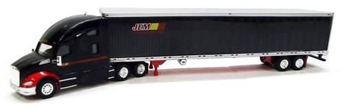Trucks N Stuff HO 400621 Kenworth T680 Sleeper with 53' Reefer Van Trailer, Jem Transport