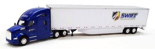 Trucks N Stuff HO 400624 Kenworth T680 Sleeper with 53' Dry Van Trailer, Swift