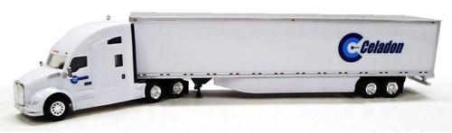 Trucks N Stuff HO 400627 Kenworth T680 Sleeper with 53' Dry Van Trailer, Celadon