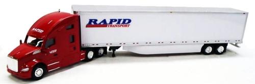 Trucks N Stuff HO 400630 Kenworth T680 Sleeper with 53' Dry Van Trailer, Rapid Transport