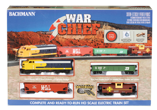 Bachmann HO 00746 War Chief Diesel Freight Set, Atchison Topeka and Santa Fe