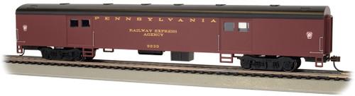 Bachmann HO 14401 72' Smooth Side Baggage Car, Pennsylvania Railroad #9230