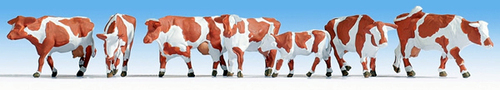 Noch HO 15726 Brown/White Cows