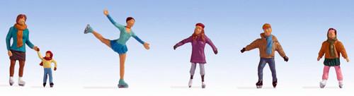 Noch HO 15824 Ice Skaters