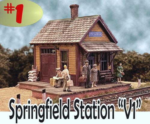 Bar Mills Scale Model Works HO 0262 Springfield Station Kit V1