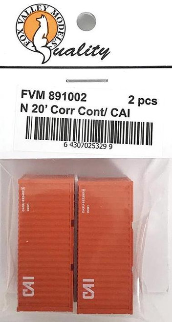 Fox Valley Models N 891002 20' Corrugated Containers, CAI (2)