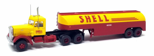 Trainworx N 55018 Vintage Peterbilt 350 Tractor and Fuel Tanker, Shell