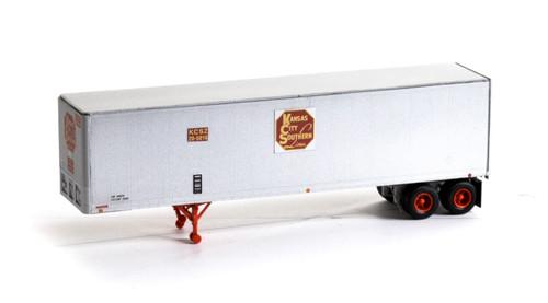 Athearn HO 14539 40' Fruehauf Z-Van Trailer, Kansas City Southern #20-5016