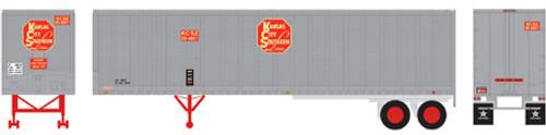 Athearn HO 14540 40' Fruehauf Z-Van Trailer, Kansas City Southern #20-5027