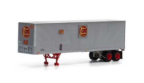 Athearn HO 14541 40' Fruehauf Z-Van Trailer, Kansas City Southern #20-5035