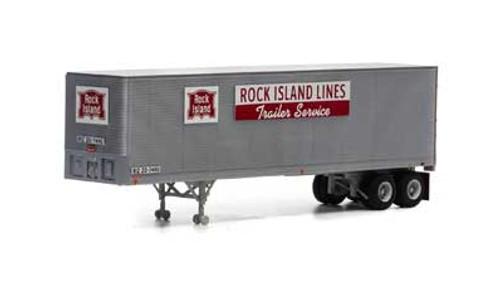 Athearn HO 14546 40' Fruehauf Z-Van Trailer, Rock Island #20-7490