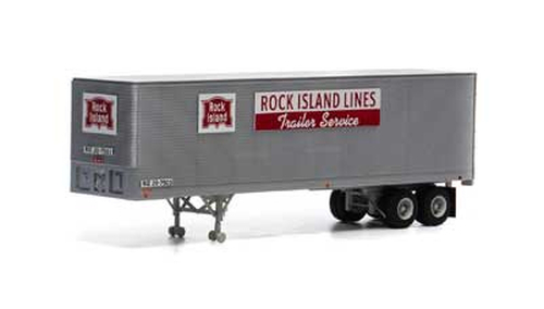 Athearn HO 14547 40' Fruehauf Z-Van Trailer, Rock Island #20-7503