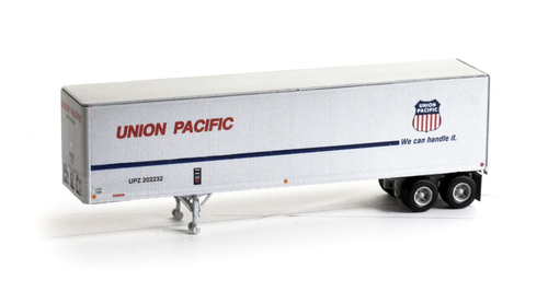 Athearn HO 14551 40' Fruehauf Z-Van Trailer, Union Pacific #202232