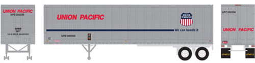 Athearn HO 14552 40' Fruehauf Z-Van Trailer, Union Pacific #202250