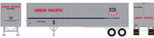 Athearn HO 14553 40' Fruehauf Z-Van Trailer, Union Pacific #202261