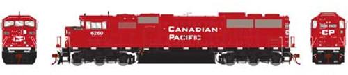 Athearn Genesis HO G75509 G2 SD60M Tri-Clops Diesel Locomotive, Canadian Pacific #6260