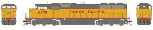 Athearn Genesis HO G75616 G2 SD60M Tri-Clops Diesel Locomotive, Union Pacific #6250