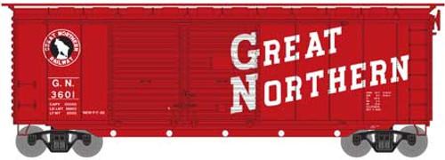 Athearn HO 16042 40' Double Door Box Car, Great Northern #3601