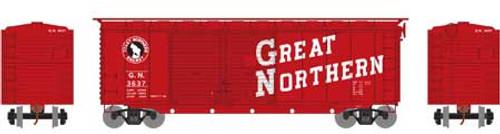 Athearn HO 16043 40' Double Door Box Car, Great Northern #3637