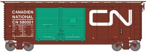 Athearn HO 16058 40' Double Door Box Car, Canadian National #580001