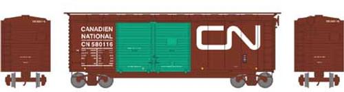 Athearn HO 16059 40' Double Door Box Car, Canadian National #580116