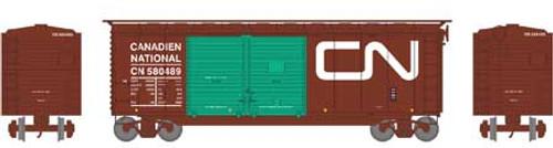 Athearn HO 16061 40' Double Door Box Car, Canadian National #580489