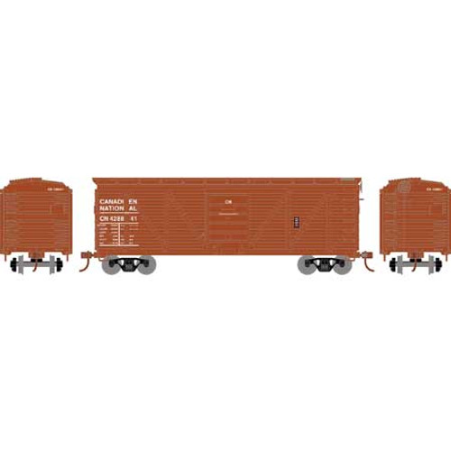 Roundhouse HO 2886 40' Ribbed Wooden Box Car, Canadian National #428841