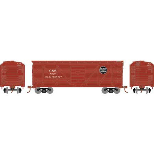 Roundhouse HO 2888 40' Ribbed Wooden Box Car, Colorado and Southern #8320