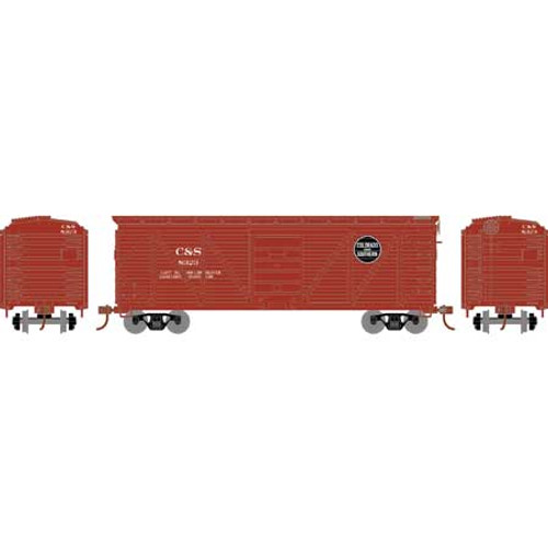 Roundhouse HO 2889 40' Ribbed Wooden Box Car, Colorado and Southern #8323