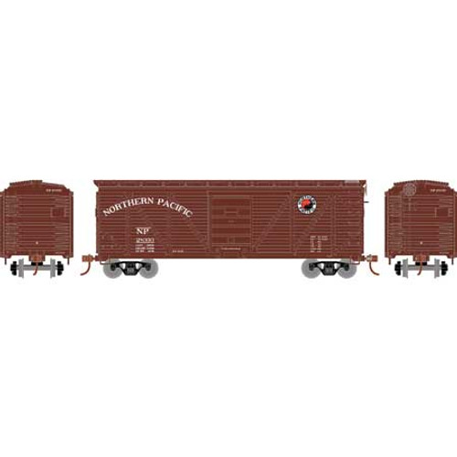 Roundhouse HO 2892 40' Ribbed Wooden Box Car, Northern Pacific #28333