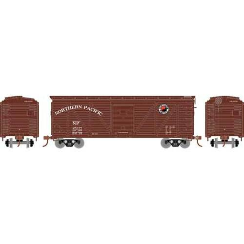 Roundhouse HO 2893 40' Ribbed Wooden Box Car, Northern Pacific #28578