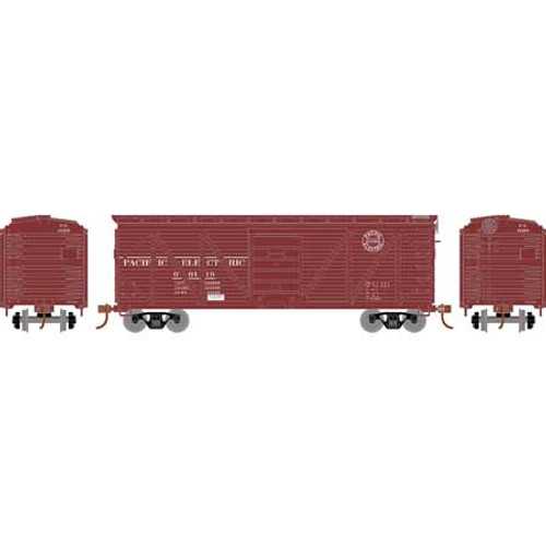 Roundhouse HO 2895 40' Ribbed Wooden Box Car, Pacific Electric #00119