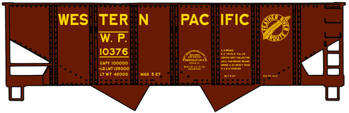 Accurail HO 2436 USRA Twin Hopper Kit, Western Pacific #10376