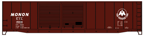 Accurail HO 5244 50' Double Door Riveted-Side Steel Box Car Kit, Monon #1504