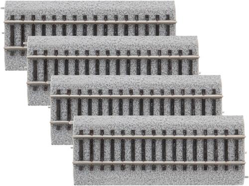"Lionel HO 8768044 4.5"" Straight Magnelock Track 4-Pack"