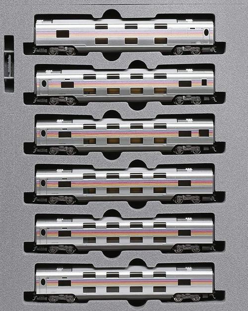 Kato N 101609 Series E26 Add-on Passenger 6-Car Set, Cassiopeia