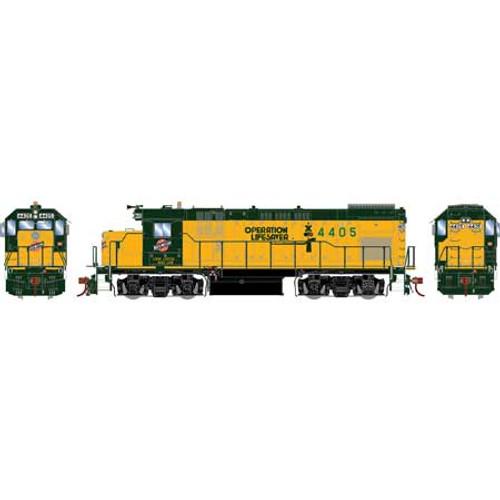 Athearn Genesis HO G13223 GP15-1, Chicago and North Western (OLS) #4405